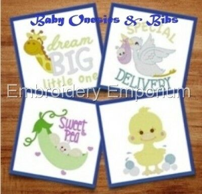 BABY BIBS APPLIQUE COLLECTION MACHINE EMBROIDERY DESIGNS ON CD OR USB