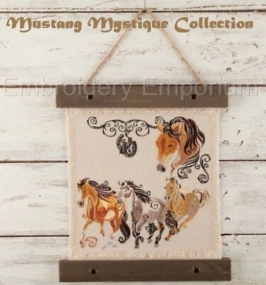 Mustang Mystique - Machine Embroidery Designs On Cd Or Usb