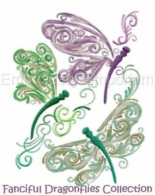 Fanciful Dragonflies Collection - Machine Embroidery Designs On Cd Or Usb