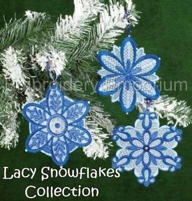 Lacy Snowflakes Collection - Machine Embroidery Designs On Cd Or Usb