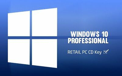WINDOWS 10 PROFESSIONAL (PRO) PRODUCT KEY RETAIL - ESD via Email or Ebay Message