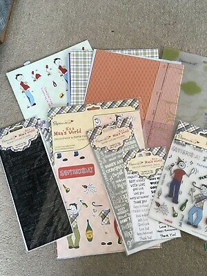 Paper mania its a mans world craft bundle new condition
