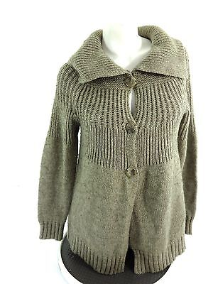 Loved By Heidi Ulum Womens Brown Wool Blend Maternity Sweater Size L