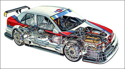 2 XXL OVER 1 Meter 1 Piece Glossy Poster **UK SELLER** Ford Sierra RS Cosworth