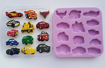Disney Cars 001 Silicone Mould For Cake Toppers, Chocolate, Clay Etc
