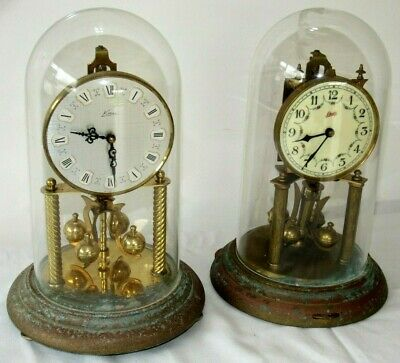 2 x German 400 Day, Torsion, Anniversary Clocks