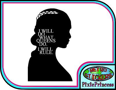Game of Thrones Daenerys E Vinyl Sticker Wall Tablet Laptop Car Decal Transfer