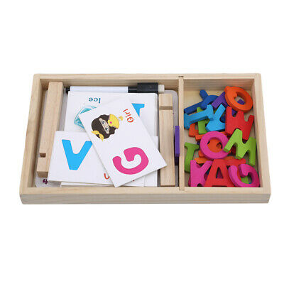Kids ABC Alphabet Flash Cards Colroful Infant Words Learning Letter Card Toys 6A