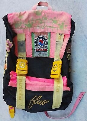 c1ad26162c ZAINO INVICTA jolly fluo VINTAGE BACKPACK BAG ANNI '90 ZAINETTO rucksack  sac IN9
