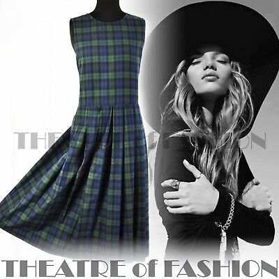 DRESS TARTAN VINTAGE LAURA ASHLEY 10 12 14 20s 30s VICTORIAN EDWARDIAN 40s 50s