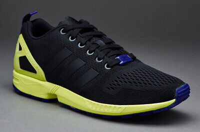 c0693acc0 New Mens adidas ZX Flux Black Yellow Running Sports Shoes Trainers Sneakers