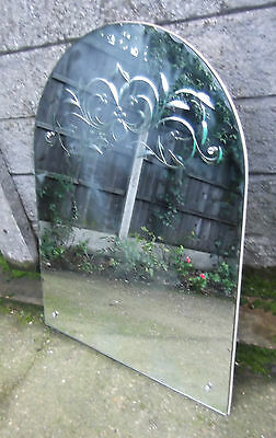 Outstanding Art Deco Large Over Mantle Wall Mirror Very Clean Condition
