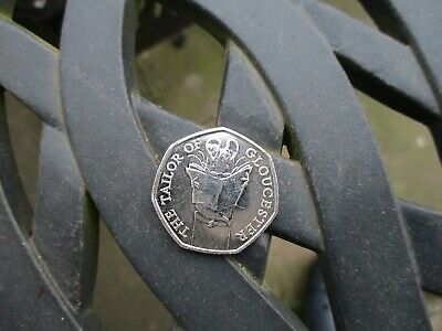 50p TAILOR of Gloucester Beatrix Potter UNCIRCULATED NEW RARE COINS 2018