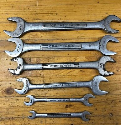 Vintage Craftsman USA - SAE Double Open End Wrenches - Set of 6 - USA