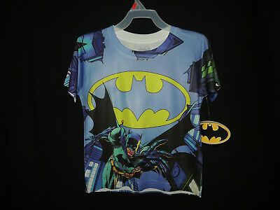 c48bf7f5 Size XS4/5 NWT Bioworld Merchandising DC Comics Batman Kids 2-Sided T-