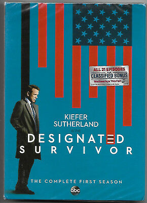 """DESIGNATED SURVIVOR"" COMPLETE 1st SEASON  21 Episodes (R1 DVD,US Import,sealed)"