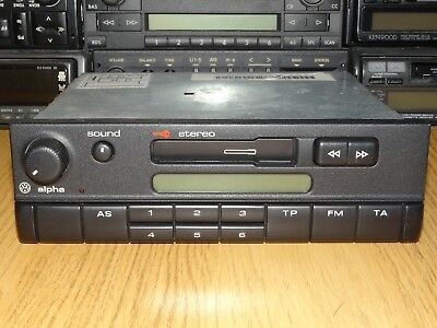 Blaupunkt Alpha CC Vintage 90s Cassette Car Stereo MP3 OEM VW Golf Polo Passat