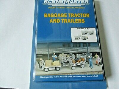 Walthers SceneMaster # 949-4135 Baggage Carts Kit 5 Wagons HO Scale