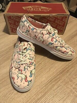 0e68ae5e4870 Junior Girls Kids Unicorn Vans Trainers Shoes Pumps - Size 3 (older girls)