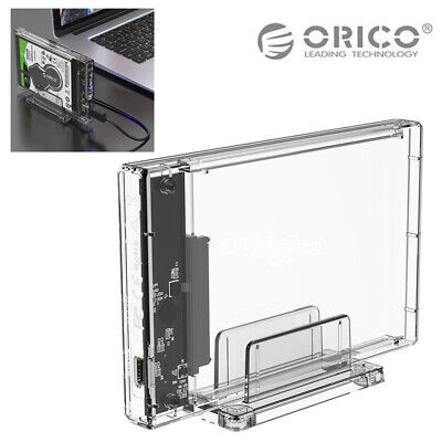 "ORICO USB3.1 Transparent 2.5"" SATA SSD HDD Hard Disk Drive Enclosure Case Box"