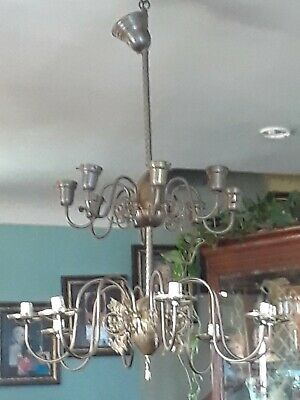 Huge VICTORIAN Mansion Hotel Chandelier Brass Light Fixture 16 Arm Commercial