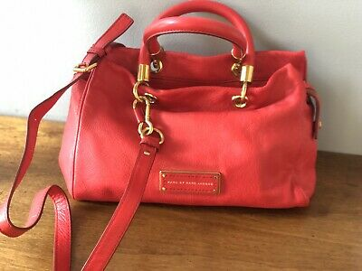 74500d04bf97 Marc by MARC JACOBS Purse TOO HOT TO HANDLE Satchel RED - Excellent Used  Cond.