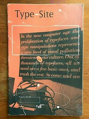 EMIGRE MAGAZINE #18 Type-Site 1991. Graphic Design Typography. Vintage