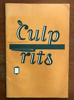 EMIGRE MAGAZINE #23  Culprits 1992. Graphic Design Typography. Vintage