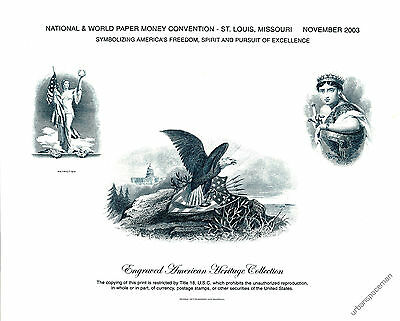 B269 NWPMC 2003 BEP Souvenir Card America Eagle and Patriotism Mint