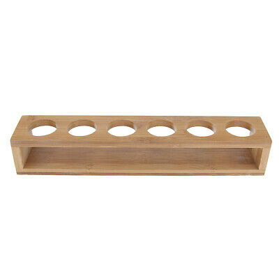 Bamboo Whisky Shot Glass Display Holder Tray Storage Carrier Rack Cup Frame
