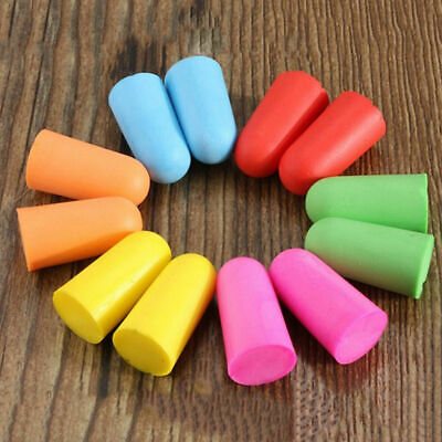 5pairs different colors soft foam ear plugs sleep  prevention noise reduction JB