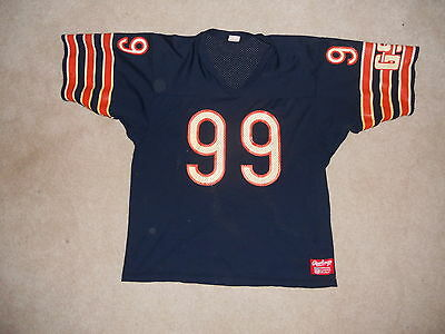 Vintage Chicago Bears Rawlings NFL Football Jersey #99 Dan Hampton XL Mesh Old S