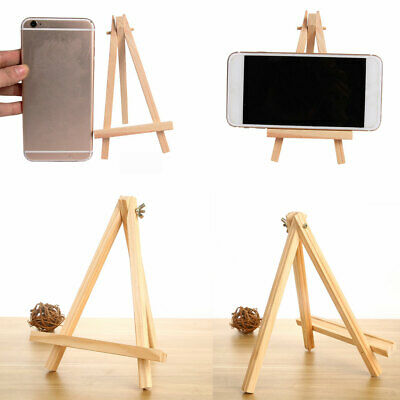 1PC Mini Wooden Tripod Easel Stand Card Holder Wedding Party Decor TP