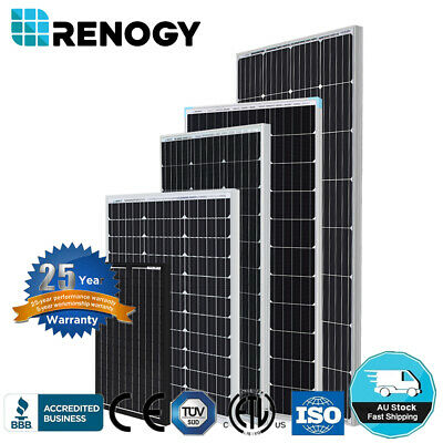 Renogy 30W 50W 80W 100W 160W Mono Solar Panel 12V Volt Off Grid Power RV Boat
