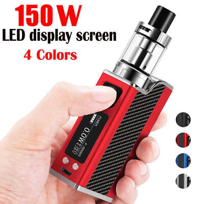 Rechargeable 150W LED Electronic Vape E Pen Cigarettes Vapor Starter Kit Tank