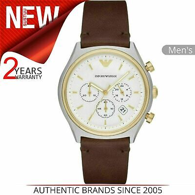 Emporio Armani Classic Men's Watch AR11033¦Chronograph Dial¦Brown Leather Strap