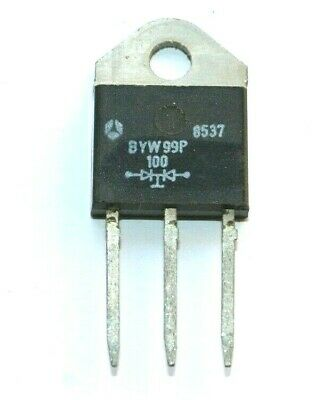 DOBLE DIODO RECTIFICADOR BYW99P100 2X35A, 100V (New Old Stock)