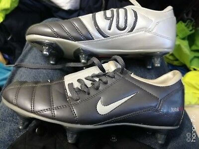 new concept 372cd 6ba53 NIKE TOTAL 90 IN SIZE 5 or5.5UK AT £17 LEATHER LOOK SILVER