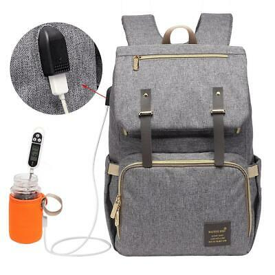 Multifunctional Large Baby Diaper Backpack Changing Waterproof Bag Mummy Nappy A