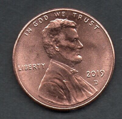 2019- D Lincoln Shield One Cent Penny USA Coin