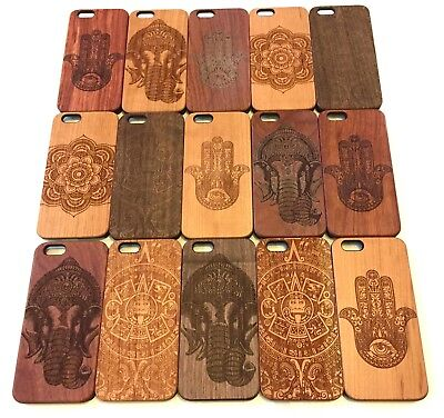 Natural Carved Wooden Phone Cases Cover Apple iPhone 6,6s,6+ CLEARANCE SALE