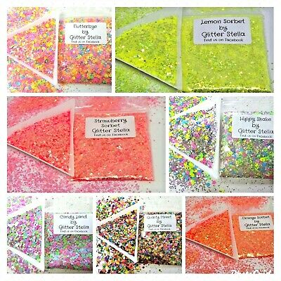 Chunky Glitter 5g Bags Selection Choose Nail Art Craft Festival Party Dance Club