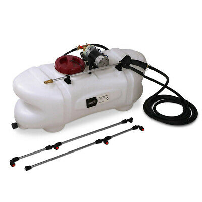 60L ATV Garden Weed Sprayer 12V Pump Tank Chemical Spray Boom Spot Wand @TOP