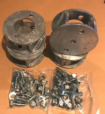 """LAND ROVER DISCOVERY 1 GALVANISED SPRING SPACER BLOCK KIT 50mm/2"""" LIFT - QTY 4"""