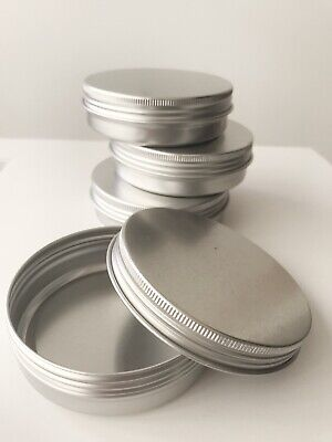 100ml Aluminium Container Tin Screw Lid Jar