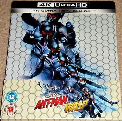 Ant-Man and the Wasp Steelbook 4K Ultra HD+Blu Ray / WORLDWIDE SHIPPING
