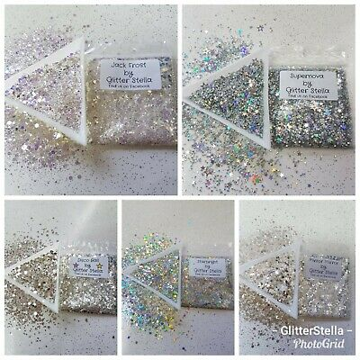 Silver Glitter Chunky 5g Bags Selection Choose Nail Art Festival Party Dance