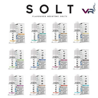 SOLT E-Liquid Nic Salt Vape Juice 10ml TPD | 50VG/50PG  - 20mg NS20 Eliquid
