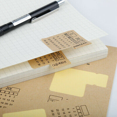 Monthly Calendar Index Stickers Lable Marker Note for Planner Appointment pD