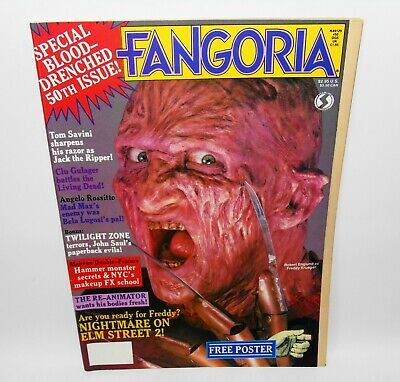 Fangoria #50 Horror Magazine 1986 Nightmare On Elm Street 2 Freddy Kruger 50th